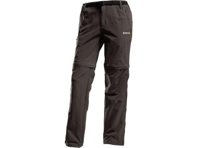 Regatta Xert II Stretch Zip of Trousers Short Men, seal grey